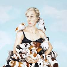 Joanna Braithwaite- artist with some great animal art. Best of all, this guinea pig piece! Crazy Cat Lady, Crazy Cats, Baby Guinea Pigs, Pig Art, Dutch Artists, Italian Artist, Australian Artists, Figure Painting, Artist Art
