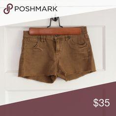 Madewell Midrise Brown Shorts Midrise cutoff brown madewell shorts Madewell Shorts Jean Shorts