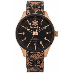 Superdry Scuba Snowflake Printed Bracelet Watch ($115) ❤ liked on Polyvore…