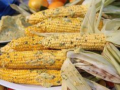 Bobby Flay's Fire-Roasted Corn With Mango-Habanero-Cilantro Butter