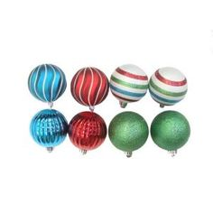 Martha Stewart Living Christmas Collectibles 4 in. Red, Green, and Blue Ornaments (8-Set)  Model # TSS-21232BStore SKU # 470015    (1)  Write a Review  $11.98/ST-Set