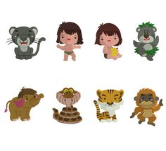 The Jungle Book Embroidery Designs The Jungle by StitchValley