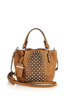 Tod's - Flower Micro Studded Leather Tote