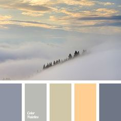 beige color, color of fog, color of fog in mountains, color of stone, dark purple color, gray color, grey-purple color, orange color