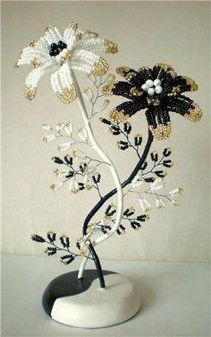 Черное и белое... с золотом | biser.info - всё о бисере и бисерном творчестве: