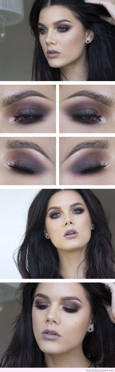Linda Hallberg dark makeup with purple line