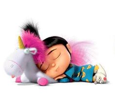 Despicable me Unicorn . its so fluffy !