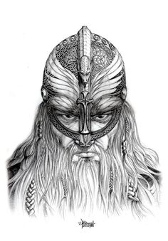 Norwegian Viking king Haraldur Harðráða Sigurðsson ... Like this sketch a lot.