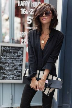 Fashion Trends for Summer 2019 Parisian Style - Click the pic for more inspo from ParisParisian Style - Click the pic for more inspo from Paris Mode Outfits, Casual Outfits, Fashion Outfits, Fall Outfits, Fashion Hair, Fashion Ideas, Fashion Tips, Looks Chic, Looks Style