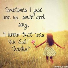 I know that was You God! Thanks!