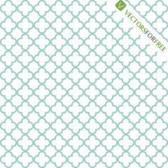 Decorative white and sinbad quatrefoil harmonious pattern.  Vector illustration.