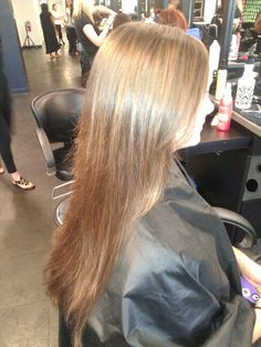 Redken Diamond Oil masque. Long layered cut. C. Rivera Hair.