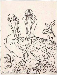 """Walter Anderson, """"Two Pelicans"""""""