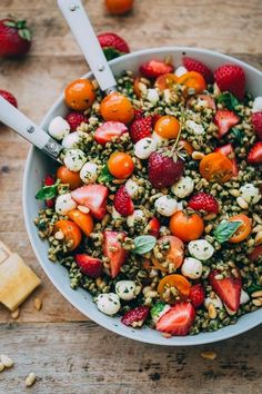 Strawberry Caprese Farro Salad | Community Post: 21 Delicious Summer Salads That Will Actually Fill You Up