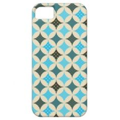 Blue Diamond Circle Pattern iPhone 5 Cases - Pretty Pattern Gifts