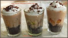 Easy Citrus& Chocolate Pudding Trifle#Improv - Sneha's Recipe Chocolate Pudding, Chocolate Chip Cookies, Orange Brownies, White Chocolate Bark, Cooking Challenge, Trifle Pudding, No Bake Desserts, Baking, Easy