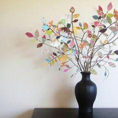 cute tree w/ scrapbook paper leaves