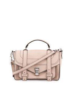 PS1+ Medium Leather Satchel Bag, Sand
