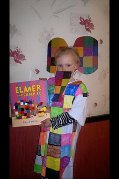 Another brilliant Elmer World Book Day costume! #MyElmer & Elmer the Elephant Outfit ~ World Book Day 2015 | Pinterest ...