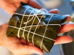 How to Make Zongzi/Joong - Toisan Style (uses mung beans). Recipe calls for cured pork belly and homemade salted duck yolks.