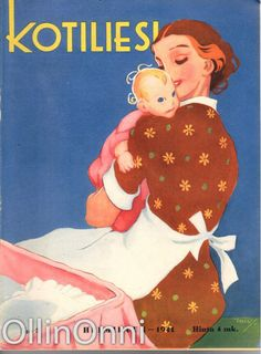 Kotiliesi 3/1941  Kansi Martta Wendelin. Elsa Beskow, Baby Mine, Kids Playing, Martini, Childrens Books, Activities For Kids, Cinderella, Disney Characters, Fictional Characters