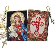 Our customers consistently tell us that these rosary pouches are even more beautiful in person than they are in photos!