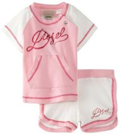 Diesel Baby-Girls Infant Uvipa Two Piece Short Set, Light Pink, 9 Months Diesel. $29.25