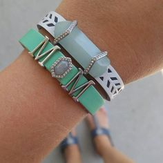KEEP Collective cuff aqua mint teal MOM bling sont quarts white silver summer turning cuff  bling leather design arm-candy arm-swag fashion mompreneur charms accessories reversible charm bracelet gift holiday birthday SAHM Direct sales mom style Christmas anniversary birthday Personalized jewelry from KEEP Collective with Sarah Shult Comment or message me for more info, questions, help ordering or personalizing a design for you.