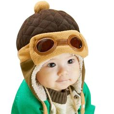 Winter Toddlers Boy or Girl Pilot Cap to keep Warm