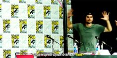 Dylan O'Brien falls in support at Comic Con 2015 after Tyler Posey falls