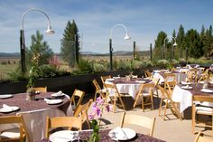 Reception on the deck at Matris Valley Grill ~ The Golf Course at Northstar California