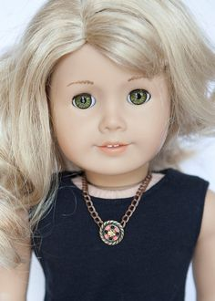 American Girl doll statement necklace  coral by EverydayDollwear