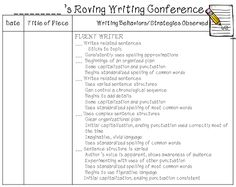 First Grade Wow: Reading/Writing Roving Conferences Work On Writing, Teaching Writing, Writing Ideas, Teaching Ideas, Reading Conference, Writer Workshop, Workshop Ideas, Writing Conferences, Florida Schools
