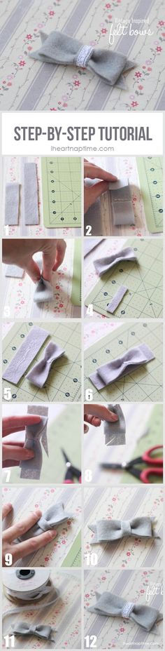 Felt bow step-by-step tutorial on iheartnaptime.com #DIY #crafts