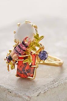 Dragonfly Alight Ring - anthropologie.com