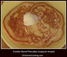 """My kids go nuts over these pancakes. truly the best ive ever had. A """"copycat"""" version of the Cracker Barrel pancake recipe (because those are THE BEST PANCAKES EVER). Breakfast Desayunos, Breakfast Dishes, Breakfast Recipes, Pancake Recipes, Mexican Breakfast, Waffle Recipes, Buffet Tapas, Pancakes And Waffles, Buttermilk Pancakes"""