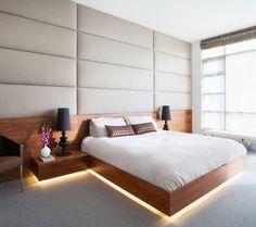 Iluminación led bajo la cama