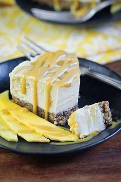 Vegan Mango Caramel Swirl Cheesecake // The Vegan 8