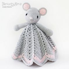 Ravelry: Wee Mouse Lovey pattern by Briana Olsen #mouse #crochet #amigurumi
