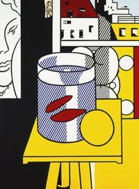 Still Life with Goldfish by Roy Lichtenstein (Henri Matisse) Roy Lichtenstein Pop Art, Art Pop, Richard Hamilton, Modern Art, Contemporary Art, Industrial Paintings, Pop Art Movement, Comic Book Style, Philadelphia Museum Of Art