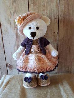 Crochet pattern Fanchon the little bear, in English by ModelStyl on Etsy https://www.etsy.com/il-en/listing/547172933/crochet-pattern-fanchon-the-little-bear