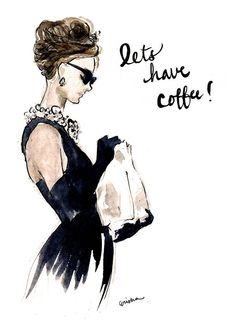Audrey Hepburn Breakfast at Tiffany's Invitation by rishann