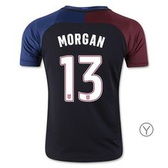 2016/17 USA Away Alex Morgan Youth Soccer Jersey (#13)