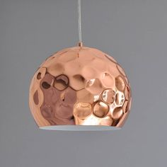 Hammered Copper Pendant Light from notonthehighstreet.com (back in stock on Aug 7)