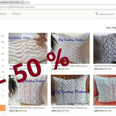 BLACK FRIDAY sale with 50% off KnitJoys.etsy.com Pdf knitting patterns.    #knitjoys #knitters #knitersofinstagram #knittersoftheworld #knit #knittingpattern #pattern #patternsale #blackfriday2017 #blackfriday #cables #wool #pillowtalk #pillows #knitpillow #cablepillows