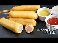 (1) Corn Dogs o Banderillas en recetas de comida faciles para niños - YouTube