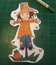 Another page marker #travelersnotebook #pocketsize #pagemarker #fall