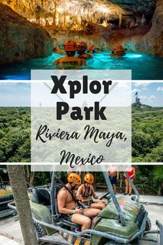 At Xplor adventure park, sail over treetops on a zip line and swim in the underground rivers of Playa del Carmen, Mexico. #cancun #rivieramaya