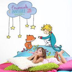 """Adesivo murale per bambini Wall Art """"Il Piccolo Principe"""" - Misure 100x61 cm - Decorazione parete, adesivi per muro, carta da parati"""