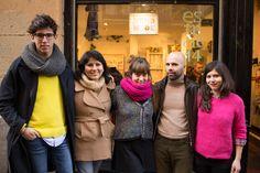 Las chicas de #Estudio14 con #AbrahamdeAmezaga #VogueMexico y #EderAurre ganador de #CreaModa2014 #Bilbao #2deMayo #Mercadillo